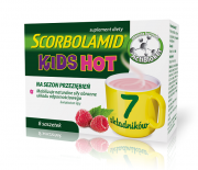 SCORBOLAMID KIDS HOT proszek do sporządzania napoju - 8 SASZ.