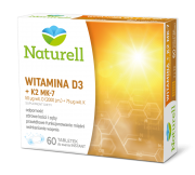 NATURELL WITAMINA D3 + K2  MK-7,60  TABL.DO SSANIA