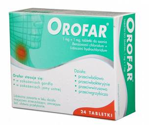 OROFAR1 MG+1 MG - 24 tabl. do ssania
