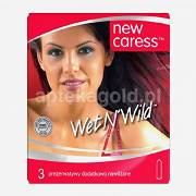 NEW CARESS-WET N WILD, prezerwatywy - 3 sztuki