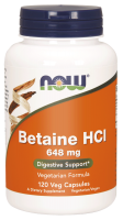 NOW FOODS - HCl Betaina  648 mg 120 kaps.