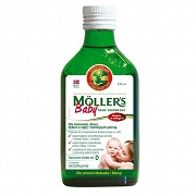 TRAN NORWESKI O AROMACIE NATURALNYM MOLLER'S BABY PLYN 250 ML